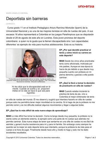 Deportista sin barreras - Noticias - Universia
