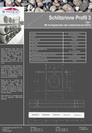 Schlitzrinne Profil 3 - Meichle  & Mohr GmbH