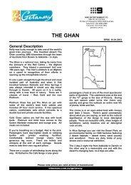 THE GHAN - Getaway - Ninemsn