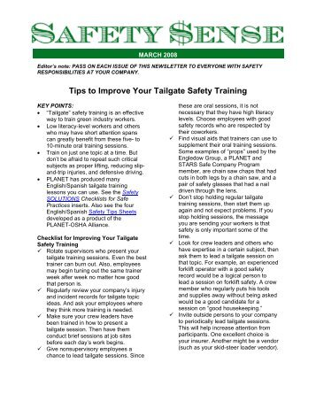 Tips to Improve Your Tailgate Safety Training - LandcareNetwork.org