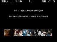 Film i tyskundervisningen - Det Danske Filminstitut