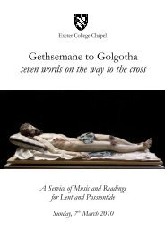 Gethsemane to Golgotha seven words on the way ... - Exeter College