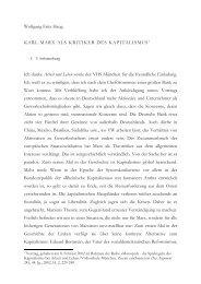 Karl Marx als Kritiker des Kapitalismus 2002 - Wolfgang Fritz Haug
