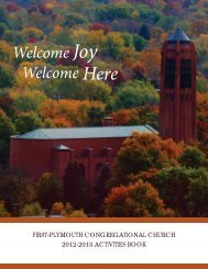 Welcome Welcome Here - First- Plymouth Congregational Church
