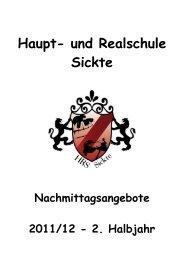 Haupt- und Realschule - und Realschule Sickte