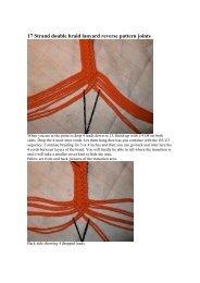 17 Strand double braid lanyard reverse pattern ... - Charles HAMEL