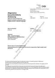 Allgemeine bauaufsichtliche Zulassung