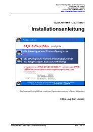 AQUA-WertMin 7.0.00-130601 Installationsanleitung - Ing. Karl Jansen