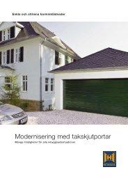 Modernisering med takskjutportar - Hörmann