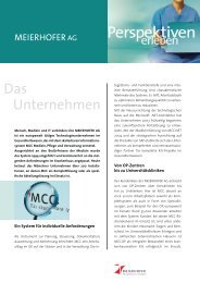 Das Unternehmen - Meierhofer AG