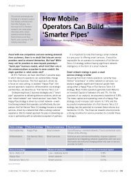 How Mobile Operators Can Build