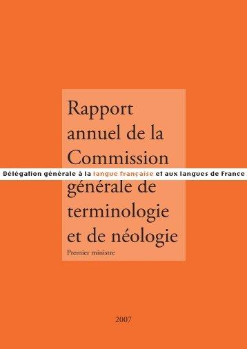 2007 - Délégation générale à la langue française et aux langues de ...