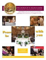 Peace be with you - Church of St. Francis Xavier