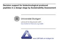 Decision support for biotechnological produced peptides in a design ...