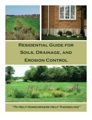 Residential Guide for Soils, Drainage, and Erosion Control