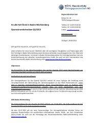 Quartalsrundschreiben Q3/2013 - MEDI Verbund Baden-Württemberg