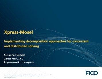 Xpress-Mosel - Fico