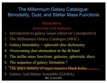Bimodality, Dust, and Stellar Mass Functions - University of St Andrews