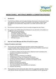 anti-fraud, bribery & corruption strategy - Wigan Council