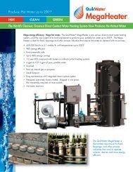 QW MegaHeater brochure - California Boiler