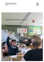 Kurzfassung Schulbeurteilung der Schule Zumikon [PDF, 2.00 MB]