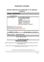 Document - Lycée Georges Brassens