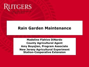 Rain Garden Maintenance - Rutgers Cooperative Extension Water ...