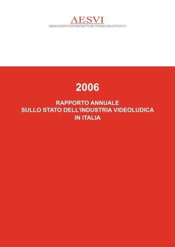 Rapporto Annuale AESVI 2006