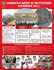 1. Admission open for the New Session. - Shrinathji Institute of ...