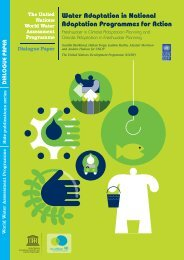 Water adaptation in national adaptation programmes for action ...