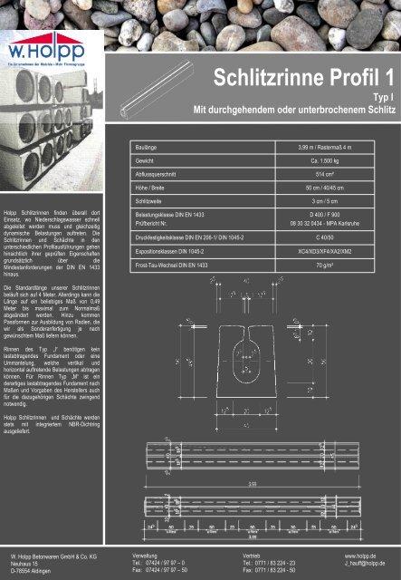 Schlitzrinne Profil 1 - Meichle & Mohr GmbH