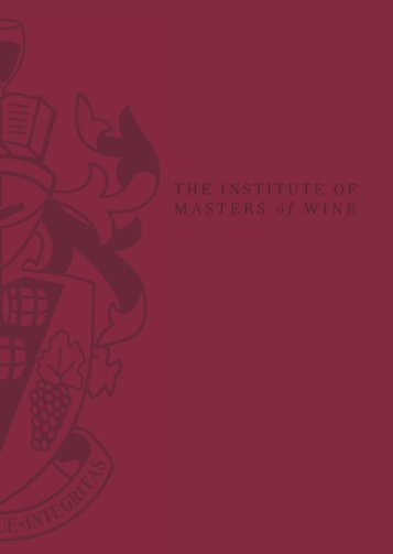 IMW Study Programme Introduction - the Institute of Masters of Wine