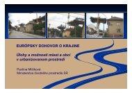 Európsky dohovor o krajine prezentácia - Ministerstvo životného ...