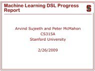 Machine Learning DSL Progress Report - Stanford PPL - Stanford ...