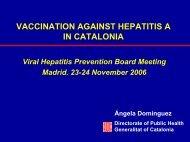 Vaccination against hepatitis A in Catalonia - Viral Hepatitis ...