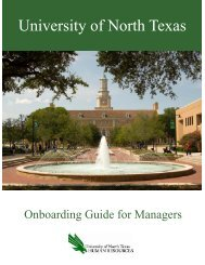 University of North Texas - Human Resources Department ...