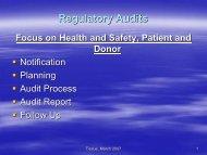 Regulatory Audits