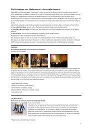 Die Preisträger vom Maibrummel - das mobile Konzert - Gong Aarau