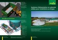Systèmes d'alimentation en substrats solides pour installations au ...