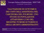 Valutazione di outcome e dei costi dell'assistenza nel carcinoma del ...