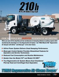Model 210h Sell Sheet and General Specifications ... - TYMCO, Inc.