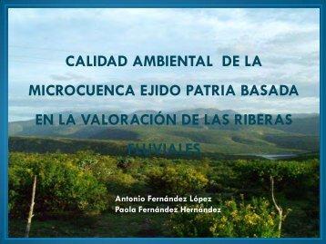 Calidad ambiental de la micro cuenca Ejido Patria basada en la ...