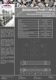 Schlitzrinne Profil 1 AH G - Meichle & Mohr GmbH
