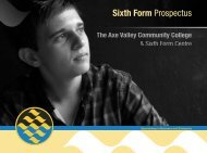 Sixth Form Prospectus - The Axe Valley Community College
