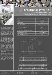 Schlitzrinne Profil 1AH - Meichle & Mohr GmbH
