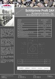 Schlitzrinne Profil 2AH - Meichle & Mohr GmbH