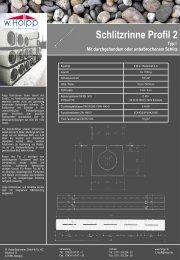 Schlitzrinne Profil 2 - Meichle & Mohr GmbH