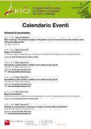 Scarica il calendario degli eventi di ARTÒ - A+D+M Network