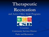and Active Older Adult Programs and Active Older Adult Programs