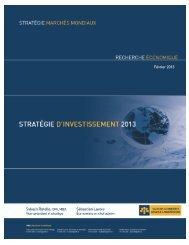 stratégie d'investissement 2013 - VMBL